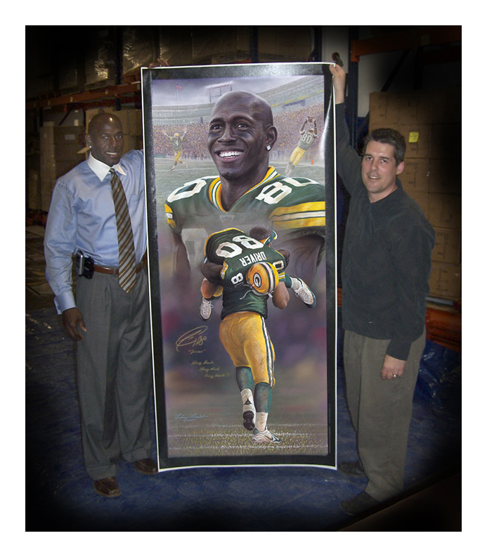 Donald Driver with Andrew Goralski Art