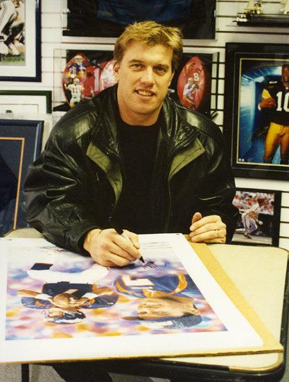 John Elway Autograph Goralski Art_Final Drive