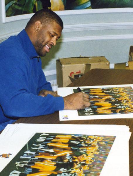 Reggie White Signing Andrew Goralski Art_Americas Pack